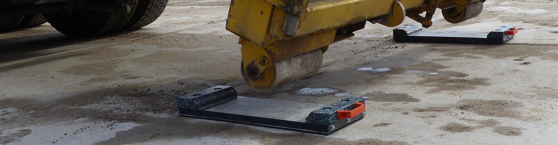 Mobile Bodenschutzplatten bieten Schutz vor Einsinken und Beschädigung des Untergrundes!